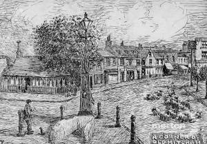 Fair Green, Mitcham: The Village Pump