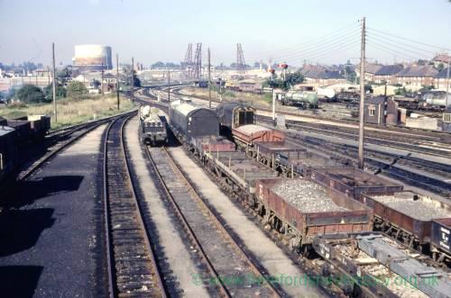 Barrs Court railway sidings, Hereford, 1972