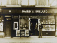 Tudor Drive, No.8, Baird & Bullard, Corner with Mr. Baird, Miss M. A. Bullard and customer, Lower Morden
