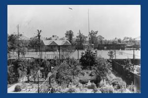 Erridge Road, Merton Park: View over tennis courts from back gardens