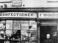 Upper Green East, Mitcham: F.Woods Confectioners