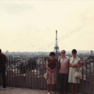 Ecclesfield French Trip, Arc de Triomphe, August 1982