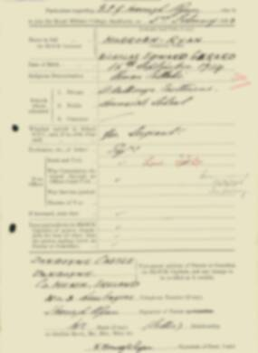 RMC Form 18A Personal Detail Sheets Feb & Sept 1933 Intake - page 95