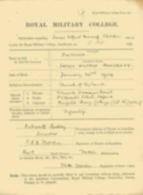 RMC Form 18A Personal Detail Sheets Feb & Sept 1922 Intake - page 45