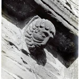 Kilpeck Church, corbel on west wall