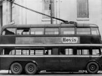 Wimbledon trolleybus near the town hall