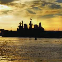 Ark Royal visits the Tyne