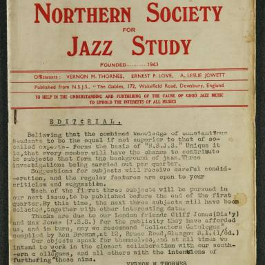 Northern Society For Jazz Study Vol.1 No.1 0001