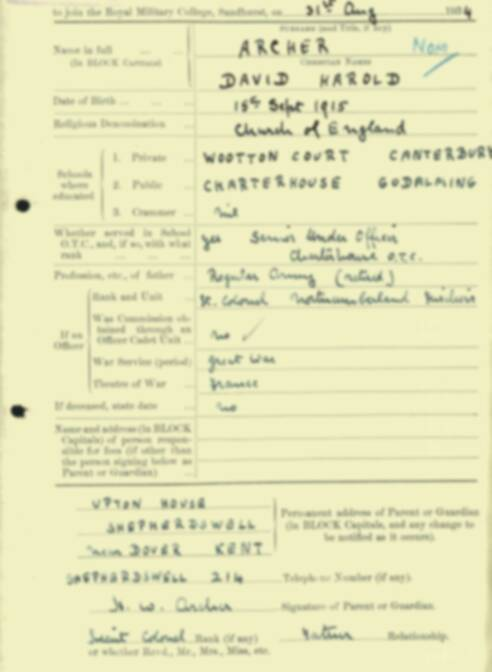 RMC Form 18A Personal Detail Sheets Aug 1934 Intake - page 5