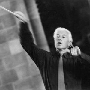 332 - Man conducting, probably at rehearsal