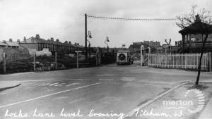 Locks Lane Level Crossing, Mitcham