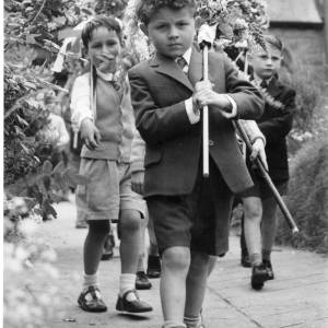 Children at the Heart of Oak Club Walk Fownhope 1959
