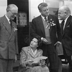 Frank Owen with his wife and two of their political supporters