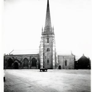 St. Peter's Church and Square, Hereford, before War Memorial was erected, 1919