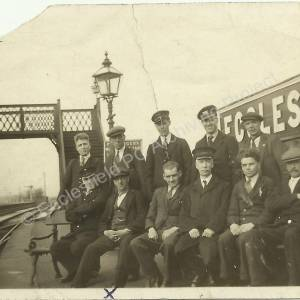 Ecclesfield Great Central Railway Station staff group