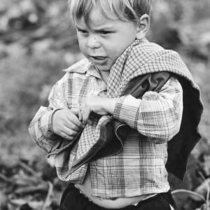 Blonde Little Boy in a Herefordshire Hop Yard
