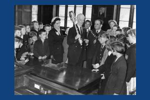 Sherwood Park School: Children and Visitors from Isle of Wight at Mitcham Town Hall