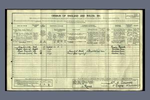 1911 Census - 15 Ridgway, Wimbledon