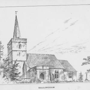 Ballingham Church, Herefordshire, print