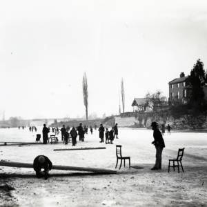 Skating on the River Wye, Hereford 1892