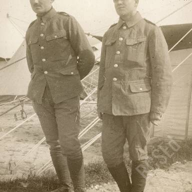 Officers Outside Tent (Probably Serbian)