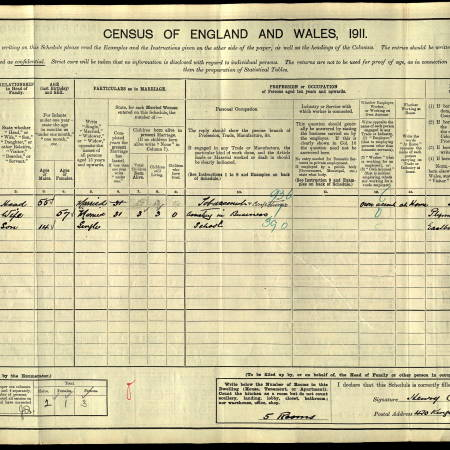 1911 census - 470 Kingston Road