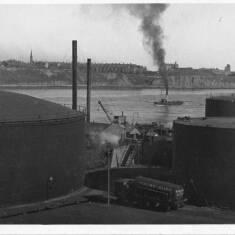 Oil Depot Near River Mouth, South Shields