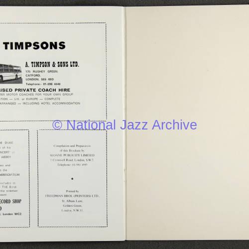 Duke Ellington Orchestra 'Sacred Concert' – Westminster  Abbey 24th   October 1973 019