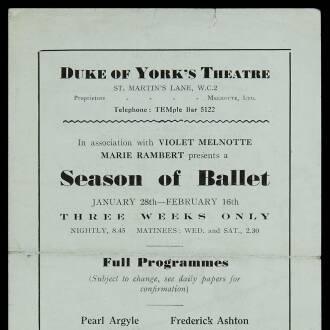 Duke of York's Theatre, London, January–February 1935