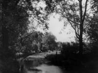 The River Wandle and the area behind the Liberty Print works.