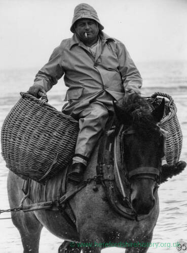 004 - Man on horse with panniers in sea
