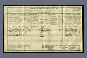 1911 Census for 6 Dorien Road, Raynes Park