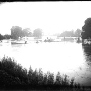 G36-332-04 Victoria Suspension Bridge with floods, taken from the Castle Green.jpg