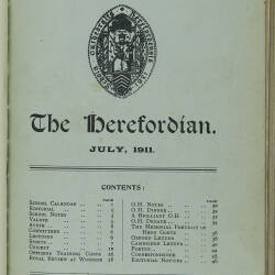 The Herefordian No 67_July 1911