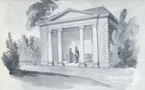 Wimbledon Park:  Summerhouse with Roman bath
