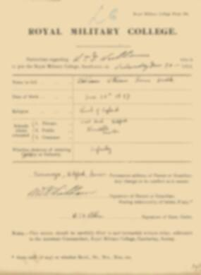 RMC Form 18A Personal Detail Sheets Jan 1915 Intake - page 375