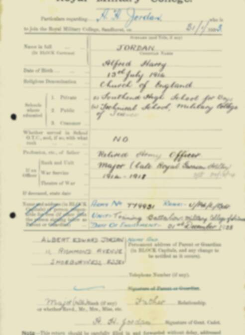 RMC Form 18A Personal Detail Sheets Feb & Sept 1933 Intake - page 76