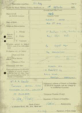 RMC Form 18A Personal Detail Sheets Jan & Sept 1932 Intake - page 4