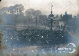 Fair Green, Mitcham: Unveiling of Mitcham clocktower