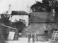 Harriott's Farm, West Barnes: Showing Mr Harriott in the Farm Yard