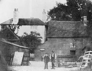 Harriott's Farm, West Barnes: Showing Mr Harriott in the Farm Yard