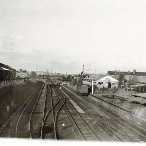 Railway Line at Hereford, 1961