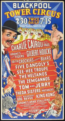 Blackpool Tower Circus poster 1956