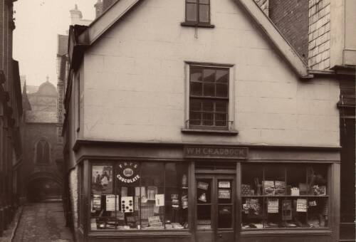 St. Stephen's Bow from Catherine Street, c1900, Exeter