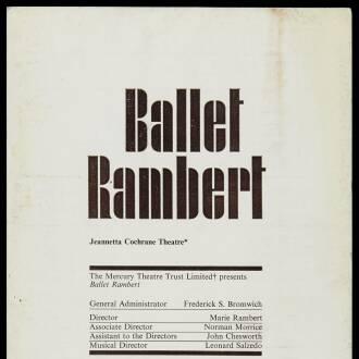 Jeannetta Conchrane Theatre, London, May–June 1968
