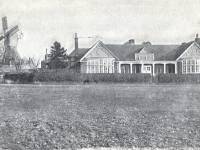 The windmill and the golf clubhouse, Wimbledon Common