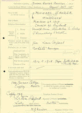 RMC Form 18A Personal Detail Sheets Aug 1935 Intake - page 96