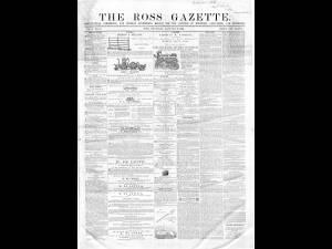 Ross Gazette 1867