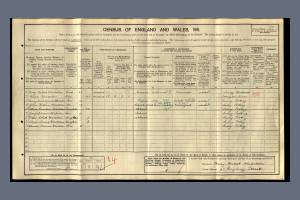 1911 Census for 92 Maybury Street, Tooting