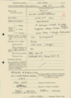 RMC Form 18A Personal Detail Sheets Feb & Sept 1933 Intake - page 150